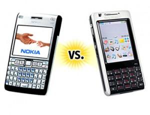Nokia E61i và Sony Ericsson P1i